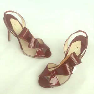 Nicholas Kirkwood Bordeaux sandals 100mm Euro 35